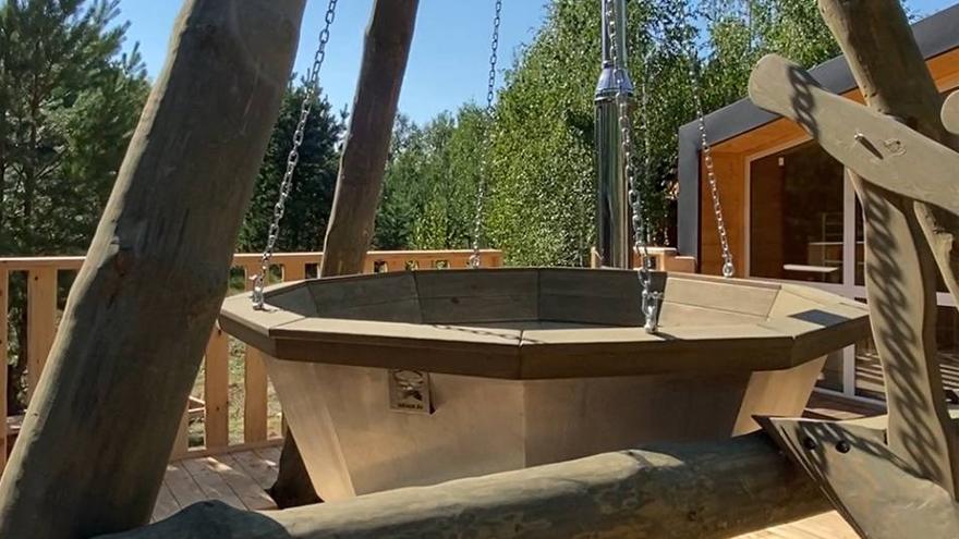 Большой отдельностоящий банный комплекс для компании!